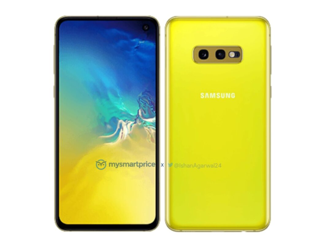 Das Samsung Galaxy S10e in Kanarien Gelb