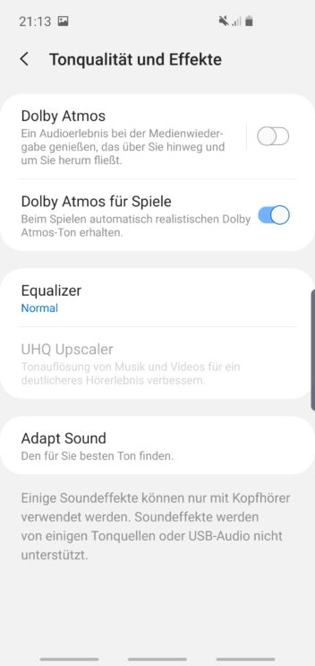 Samsung Galaxy S10e Sound