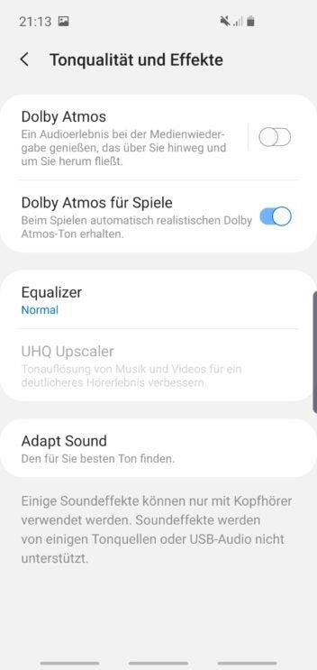 Samsung Galaxy S10e Sound