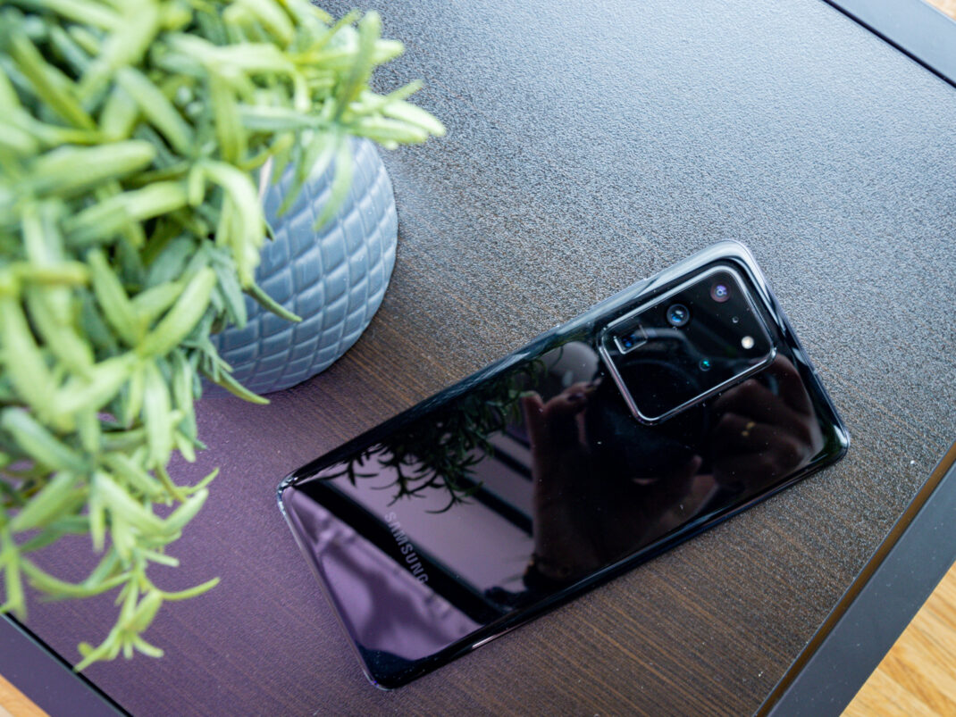 Samsung Galaxy S20 Ultra im Hands-On Rückseite