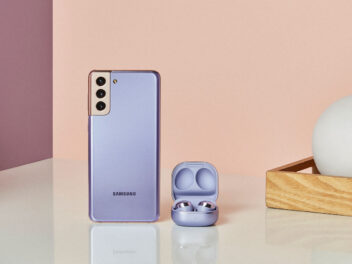 Samsung S21 mit Kopfhörern Galaxy Buds Pro
