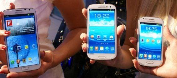 Samsung Galaxy Note 2, Galaxy S3 und S3 mini