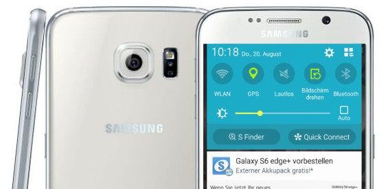 Samsung Galaxy S6 mit Werbung im Benachrichtiugungs-Center