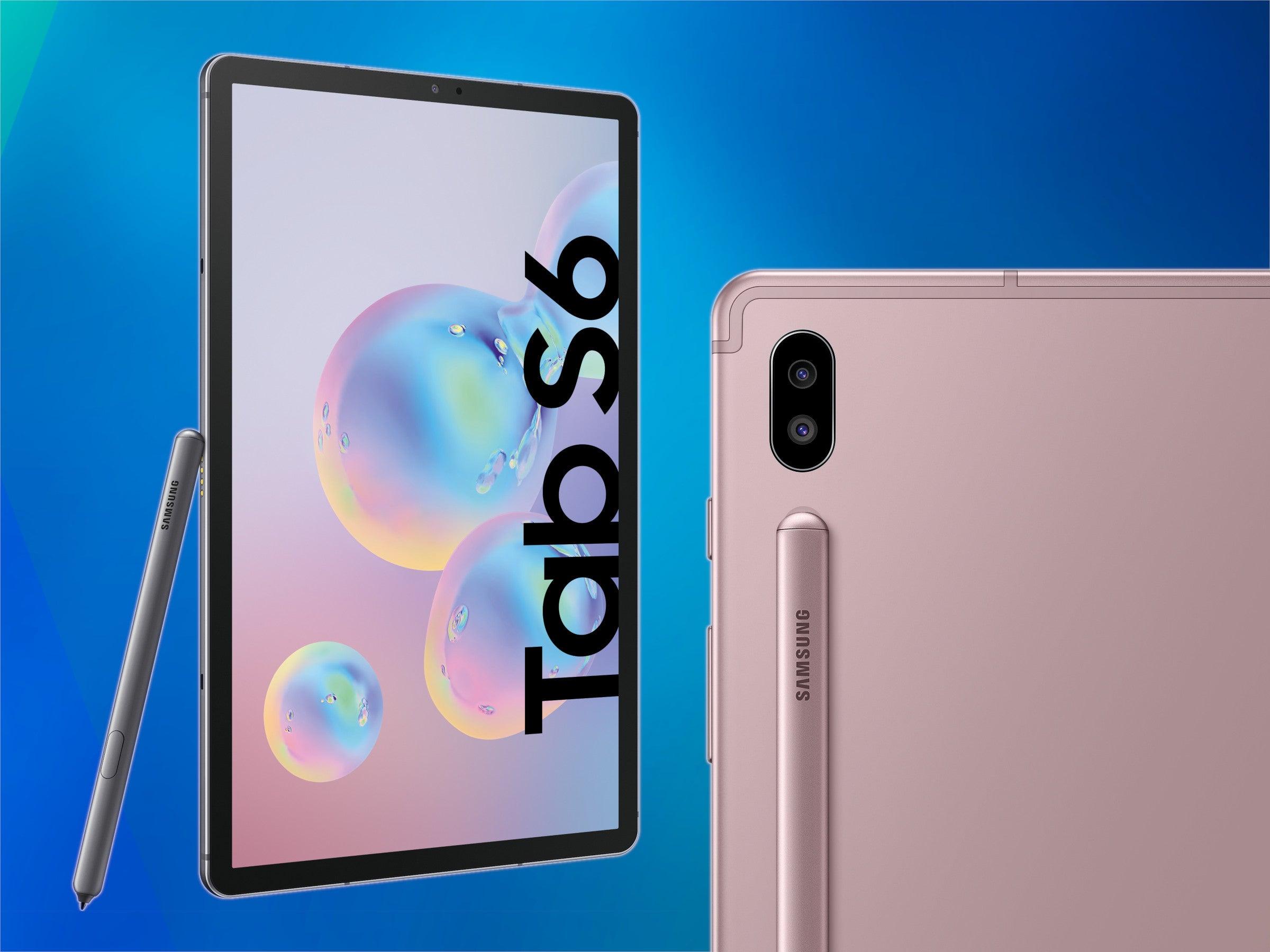 Front und Rückseite des Galaxy Tab S6