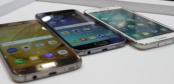 Samsung Galaxy S7, Galaxy S6 und Galaxy S5 im Vergleich