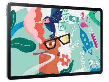 Samsung Galaxy Tab S7 FE 5G horizontal ausgerichtet.