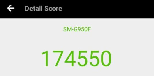 Samsung Galaxy S8 Benchmark-Test