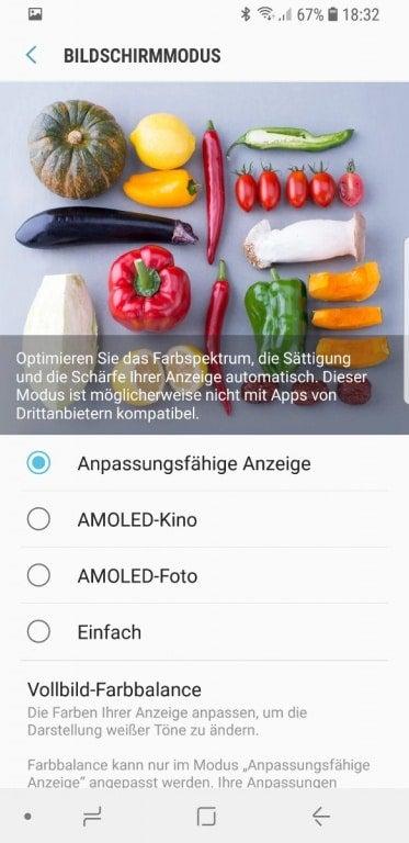 Samsung Galaxy S9 Einstellungen