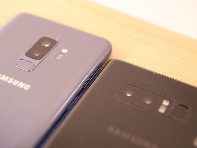 Samsung Galaxy S9+ gegen Note 8