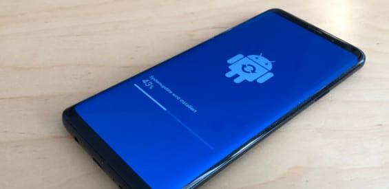 Samsung Galaxy S9+ Update Symbolbild