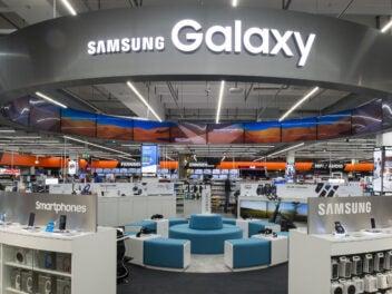 Samsung-Galaxy-Abteilung in einem Saturn