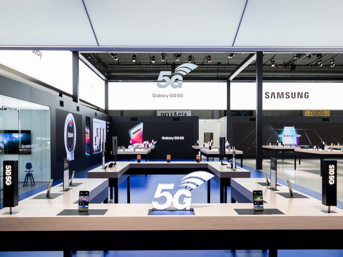 Messestand Samsung
