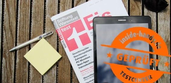 Samsung Galaxy Tab A mit Testcenter-Stempel