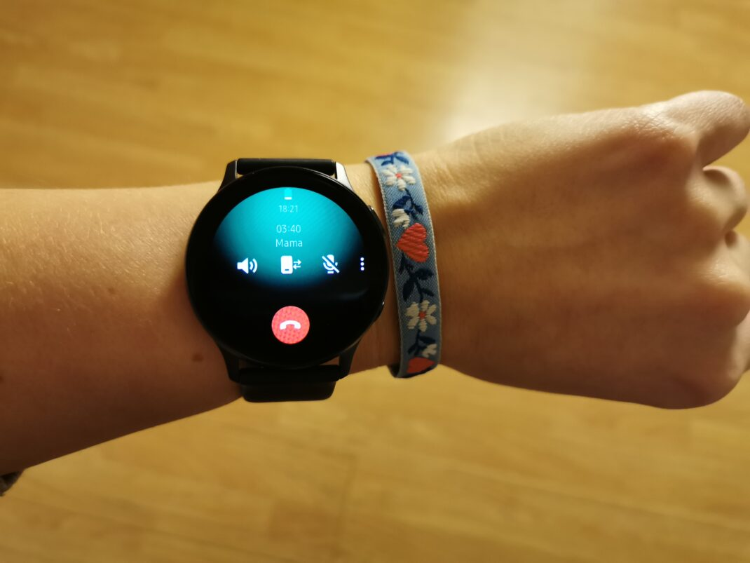 Samsung Galaxy Watch Active 2 Telefonansicht