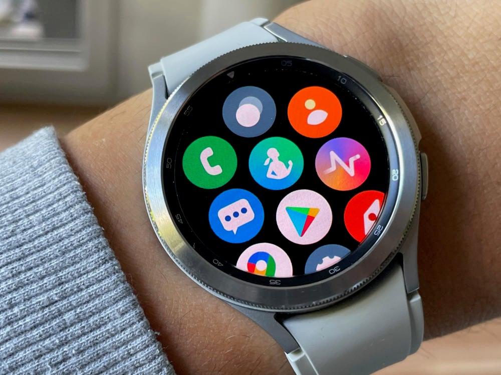 App-Übersicht auf der Samsung Galaxy Watch4 Classic
