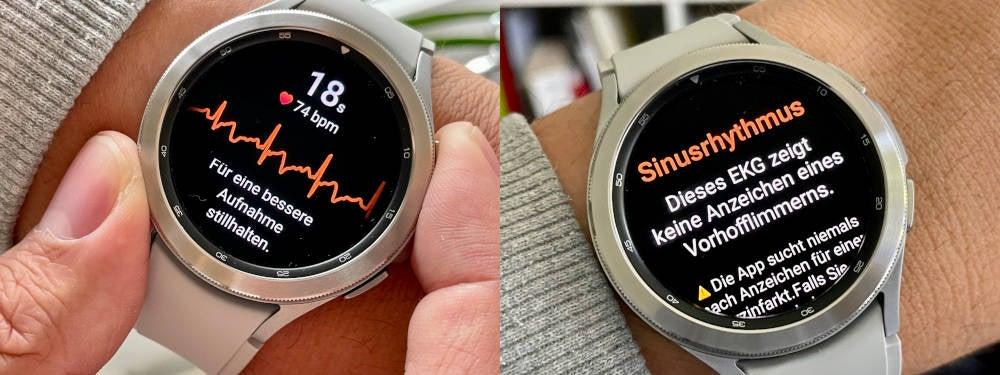 EKG-Funktion auf der Samsung Galaxy Watch4 Classic