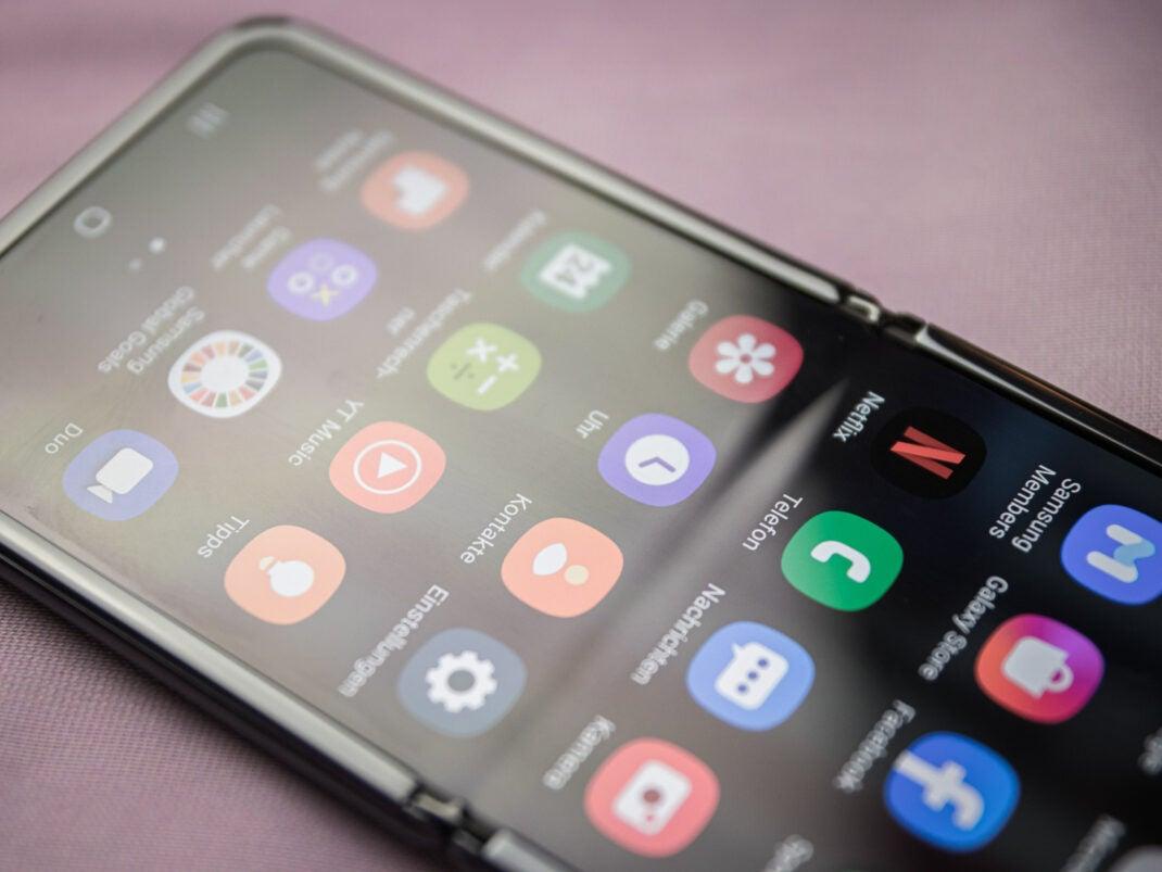 Samsung Galaxy Z Flip Faltstelle