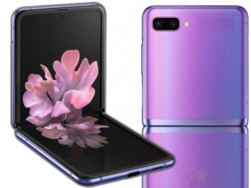 Samsung Galaxy Z Flip von vorne und hinten
