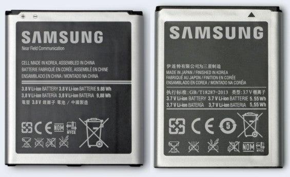 Gefälschter Akku Samsung Herkunftsverweis