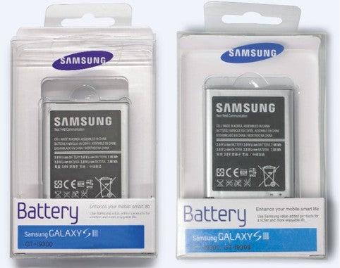 Gefälschter Akku Samsung Farbvergleich