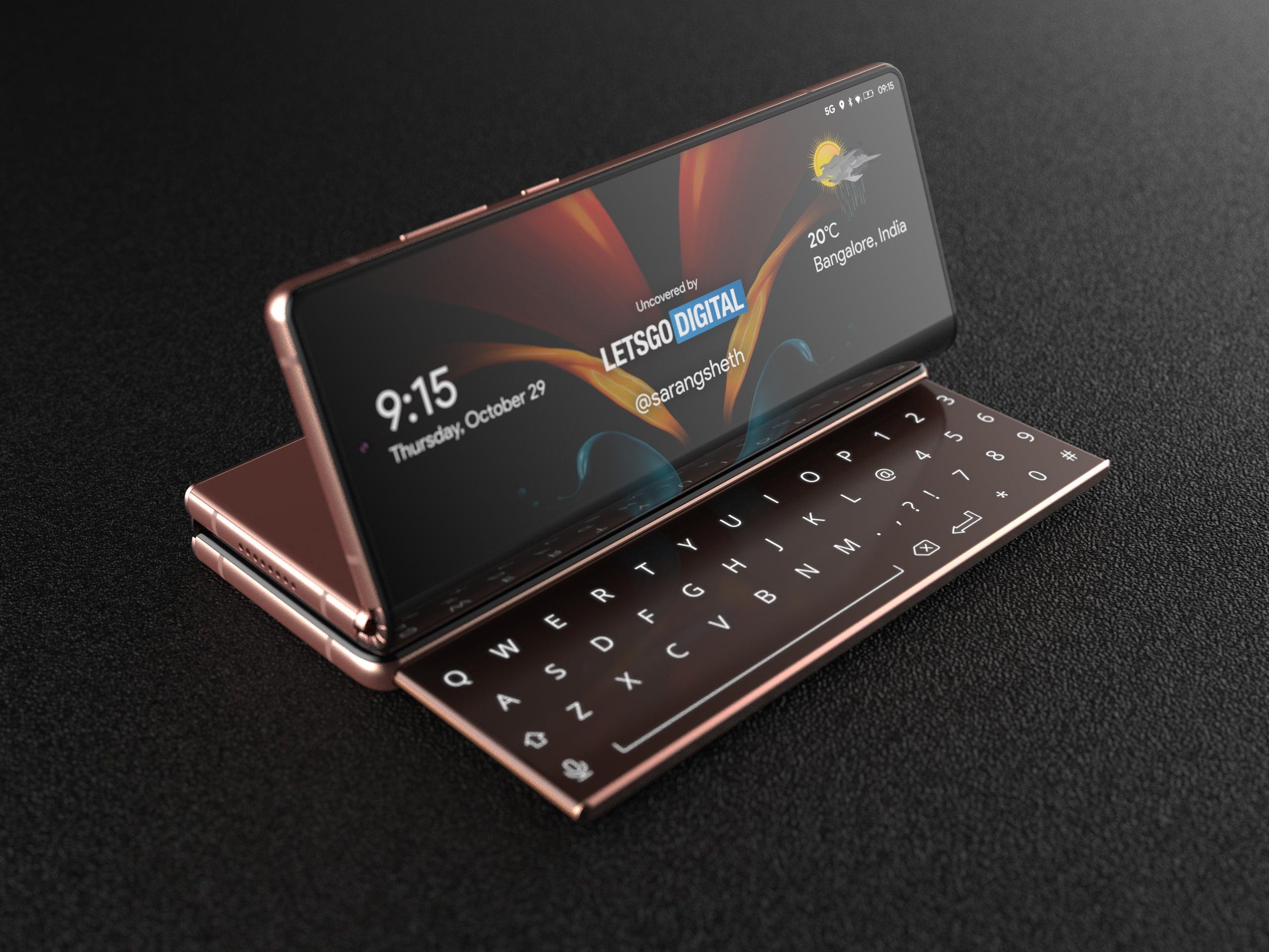 Samsung-Handy mit Schiebetastatur