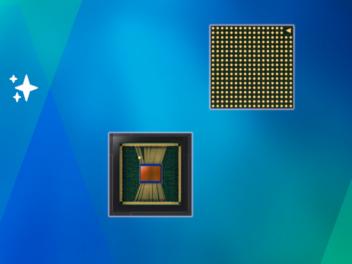 Sensoren auf blauem und grünem Hintergrund