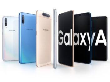 Die verschiedenen Modelle der Galaxy-A-Reihe von Samsung.