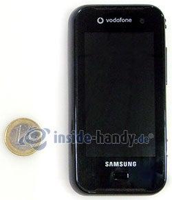 Samsung Qbowl: Größenverhältnis