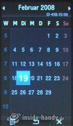 Samsung Qbowl: Kalender