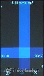 Samsung Qbowl: Musicplayer