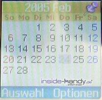 Samsung SGH-C200N - Kalender
