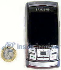 Samsung SGH-D840: Größenverhältnis