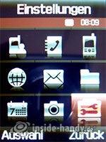 Samsung SGH-D840: Hauptmenü