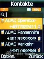 Samsung SGH-D840: Kontakte