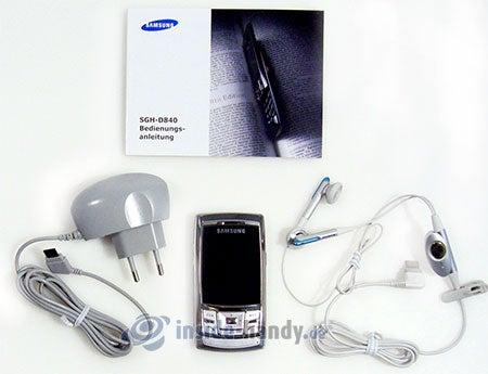 Samsung SGH-D840: Lieferumfang