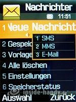 Samsung SGH-D840: Nachrichten