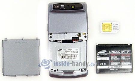 Samsung SGH-D840: zerlegt in Bestandteile