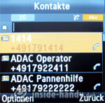 Samsung SGH-E590: Kontakte