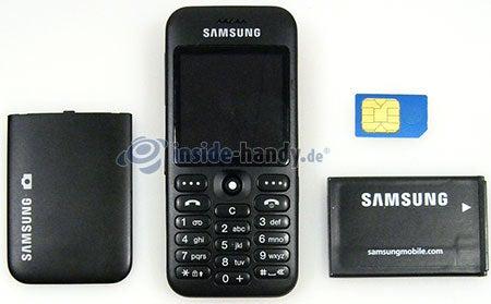 Samsung SGH-E590: offenes Gerät vorne