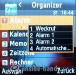 Samsung SGH-E590: Organizer
