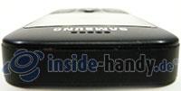 Samsung SGH-E590: Seitenansicht oben