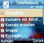 Samsung SGH-E590: Telefonbuch