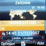 Samsung SGH-E590: Zeitzonen