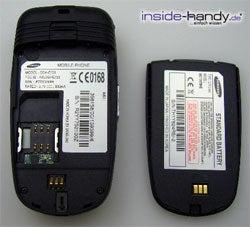 Samsung SGH-E730 - auseinander gebau von hinten