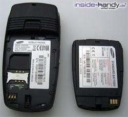 Samsung SGH-E760 - auseinander von hinten