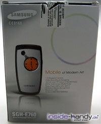 Samsung SGH-E760 - Verpackung