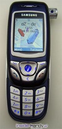 Samsung SGH-E850 - aufgeklappt