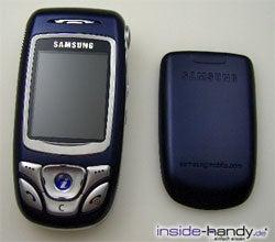 Samsung SGH-E850 - auseinander gebaut