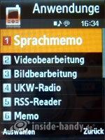 Samsung SGH-G800: Anwendungen