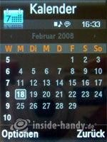 Samsung SGH-G800: Kalender